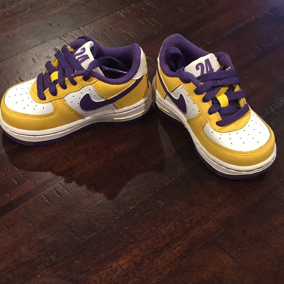 9f3a0138d45 Nike Air Force 1 Lakers Kobe 24 Toddler Shoes. M 5a331a588f0fc479130064c0